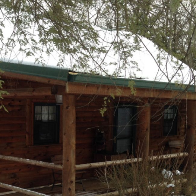 Exterior photo of Summit Point Cabin.