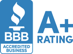 Better Business Bureau Accredited Business. A+ rating.